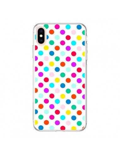Coque iPhone XS Max Pois Multicolores - Laetitia