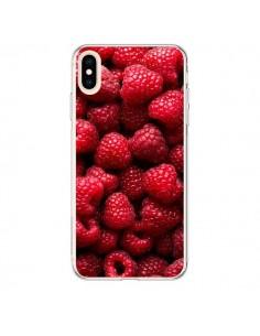 Coque iPhone XS Max Framboise Raspberry Fruit - Laetitia