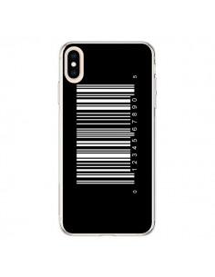 Coque iPhone XS Max Code Barres Blanc - Laetitia