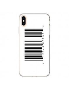 Coque iPhone XS Max Code Barres Noir - Laetitia