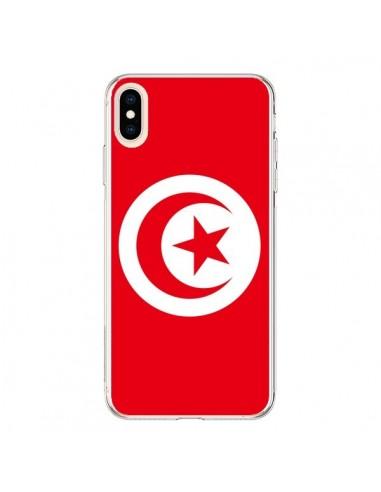 Coque iPhone XS Max Drapeau Tunisie Tunisien - Laetitia