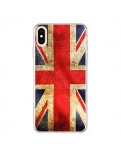 Coque iPhone XS Max Drapeau Angleterre Anglais UK - Laetitia