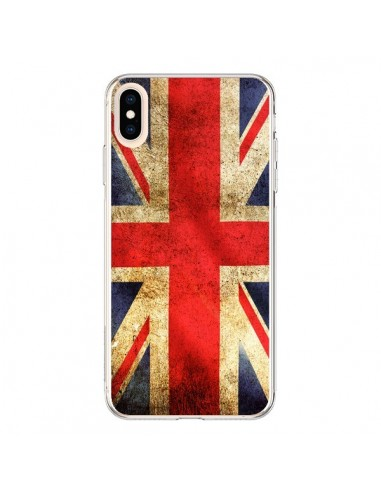 Coque iPhone XS Max Drapeau Angleterre Anglais UK - Laetitia