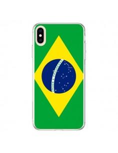 Coque iPhone XS Max Drapeau Brésil Brésilien - Laetitia