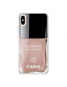 Coque iPhone XS Max Vernis Paris Frenzy Beige - Laetitia