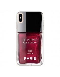 Coque iPhone XS Max Vernis Paris Malice Violet - Laetitia