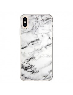 Coque iPhone XS Max Marbre Marble Blanc White - Laetitia