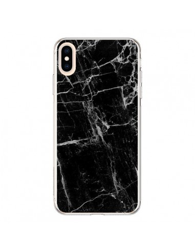 Coque iPhone XS Max Marbre Marble Noir Black - Laetitia