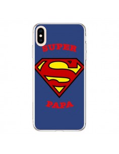Coque iPhone XS Max Super Papa Superman - Laetitia