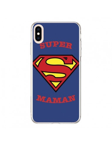 Coque iPhone XS Max Super Maman Superman - Laetitia