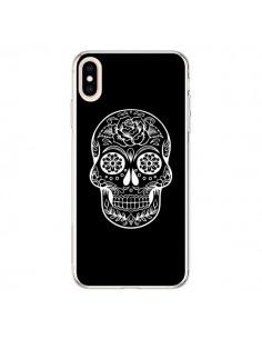 Coque iPhone XS Max Tête de Mort Mexicaine Blanche - Laetitia