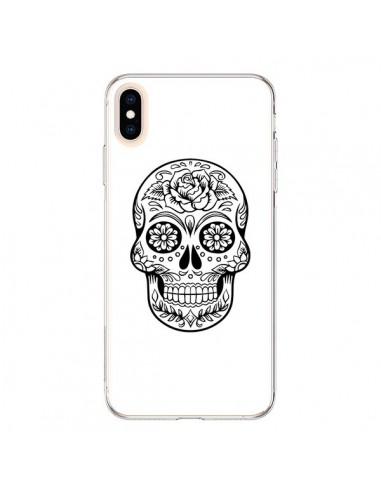Coque iPhone XS Max Tête de Mort Mexicaine Noir - Laetitia