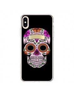 Coque iPhone XS Max Tête de Mort Mexicaine Multicolore - Laetitia