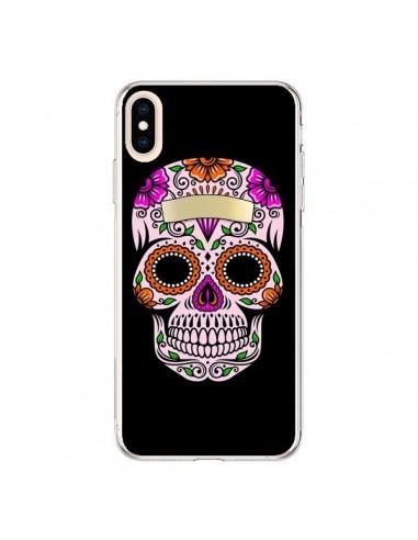 Coque iPhone XS Max Tête de Mort Mexicaine Multicolore - Laetitia