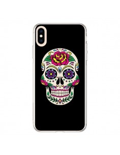 Coque iPhone XS Max Tête de Mort Mexicaine Multicolore Noir - Laetitia