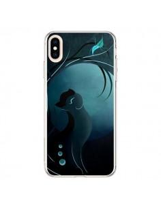 Coque iPhone XS Max Chat Clair de Lune Moonlight - LouJah