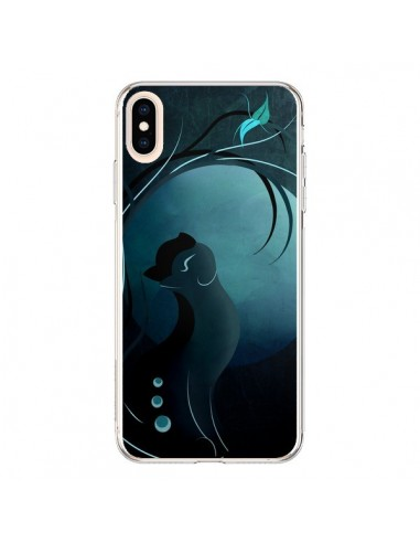 Coque iPhone XS Max Chat Clair de Lune Moonlight - LouJah