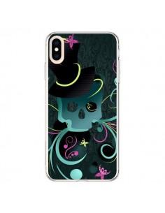 Coque iPhone XS Max Tête de Mort Papillon Skull - LouJah