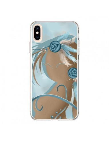 Coque iPhone XS Max Femme Plume Zoey Woman Feather - LouJah