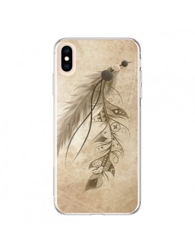 Coque iPhone XS Max Bohemian Feather Plume Attrape Reves - LouJah