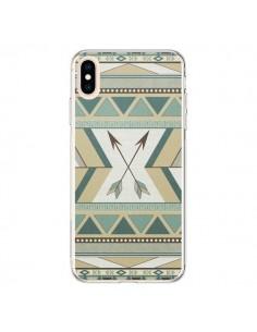Coque iPhone XS Max Aztec Pattern Arrows Fleche Azteque Tribal - LouJah