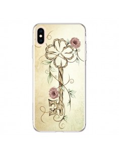 Coque iPhone XS Max Key Lucky Clef Flower - LouJah