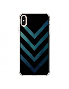 Coque iPhone XS Max Blue Black Arrow Fleche - LouJah