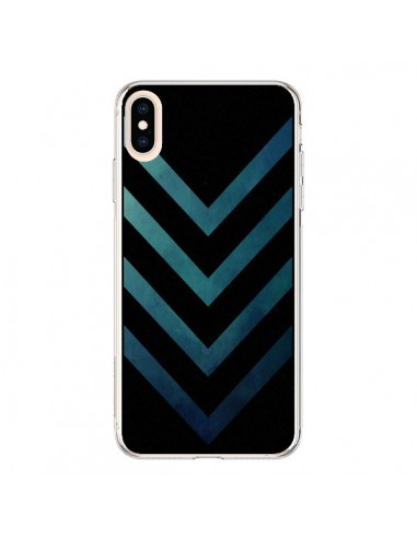 Coque iPhone XS Max Blue Black Arrow...