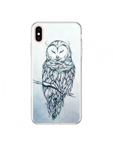 Coque iPhone XS Max Snow Owl Chouette Hibou Neige - LouJah
