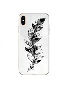Coque iPhone XS Max Feather Plume Noir et Blanc - LouJah