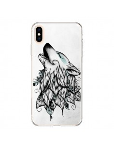 Coque iPhone XS Max The Wolf Loup Noir - LouJah