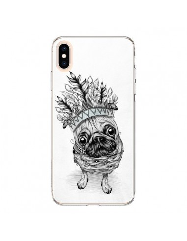 Coque iPhone XS Max Indian Dog Chien Indien Chef Couronne - LouJah