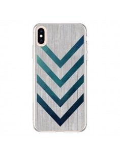 Coque iPhone XS Max Blue Arrow Wood Fleche Bois - LouJah