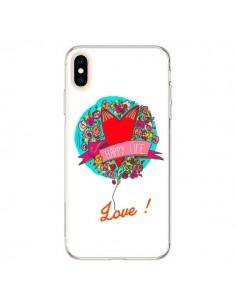 Coque iPhone XS Max Love Happy Life - Leellouebrigitte