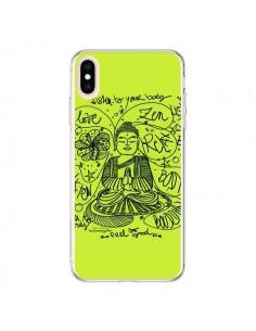 Coque iPhone XS Max Buddha Listen to your body Love Zen Relax - Leellouebrigitte