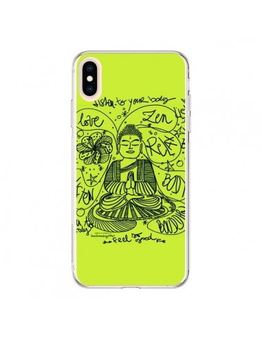 Coque iPhone XS Max Buddha Listen to your body Love Zen Relax - Leellouebrigitte