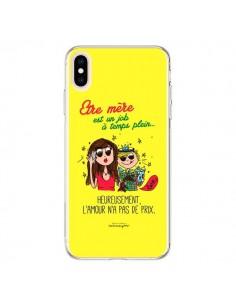 Coque iPhone XS Max Etre mère est un job à plein temps Fête des Mères - Leellouebrigitte