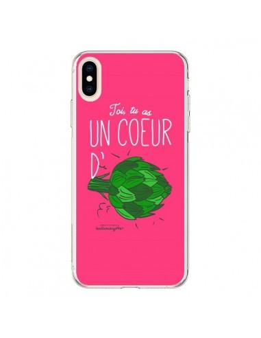 Coque iPhone XS Max Toi tu as un coeur d'artichaut - Leellouebrigitte