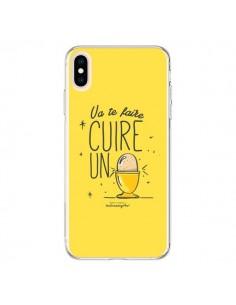 Coque iPhone XS Max Va te faire cuir un oeuf jaune - Leellouebrigitte