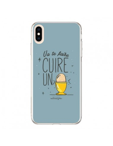 Coque iPhone XS Max Va te faire cuir un oeuf gris - Leellouebrigitte