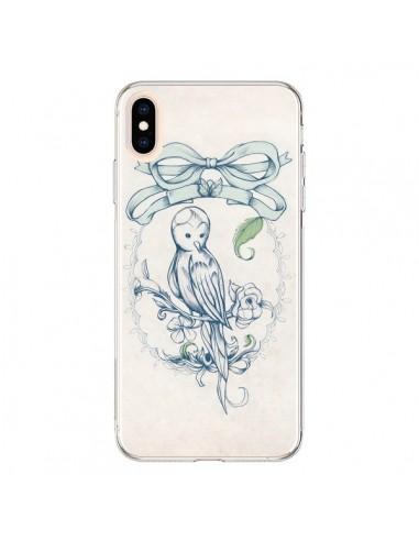 Coque iPhone XS Max Bird Oiseau Mignon Vintage - Lassana