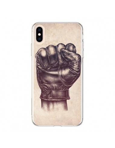Coque iPhone XS Max Fight Poing Cuir - Lassana
