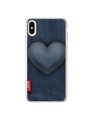 Coque iPhone XS Max Love Coeur en Jean - Lassana