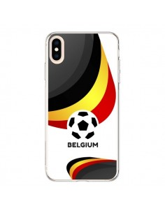 Coque iPhone XS Max Equipe Belgique Football - Madotta