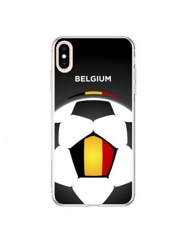 Coque iPhone XS Max Belgique Ballon Football - Madotta