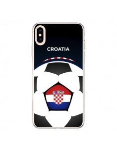 Coque iPhone XS Max Croatie Ballon Football - Madotta