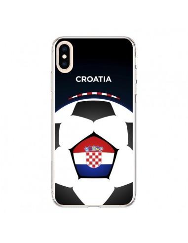 Coque iPhone XS Max Croatie Ballon Football - Madotta