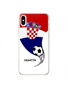 Coque iPhone XS Max Equipe Croatie Croatia Football - Madotta