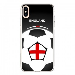 Coque iPhone XS Max Angleterre Ballon Football - Madotta