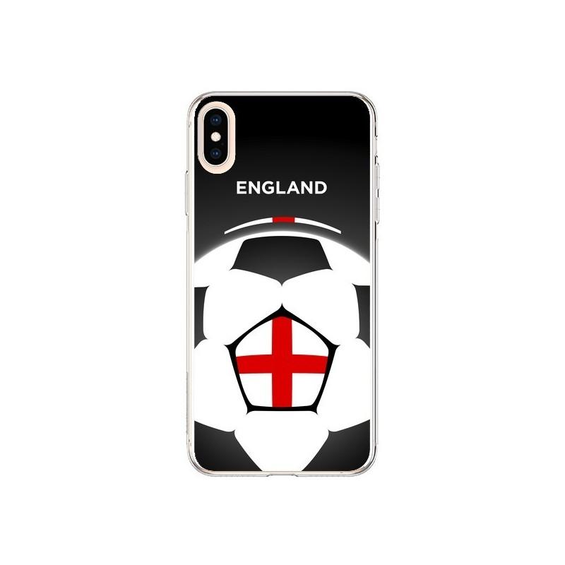 Coque iPhone XS Max Angleterre Ballon Football - Madotta